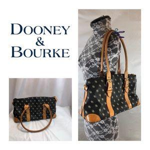 Auth Dooney & Bourke Black & Tan Satchel